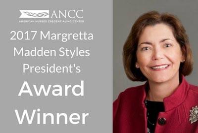 Janice Moran, 2017 ANCC Margretta Madden Styles President's Award Winner