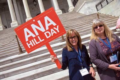 ANA Hill Day - nurses standing on US Capitol steps
