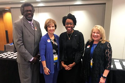 ANA President Ernest Grant, ANA Enterprise CNO Debbie Hatmaker, U.S. Rep. Lauren Underwood (D-IL), ANA Enterprise CEO Loressa Cole on Hill Day